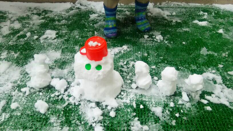雪が⛄降ったょ~