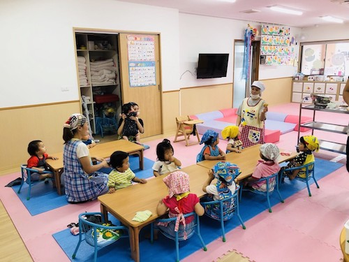 6月クッキング「ポテトもち」 長岡京園