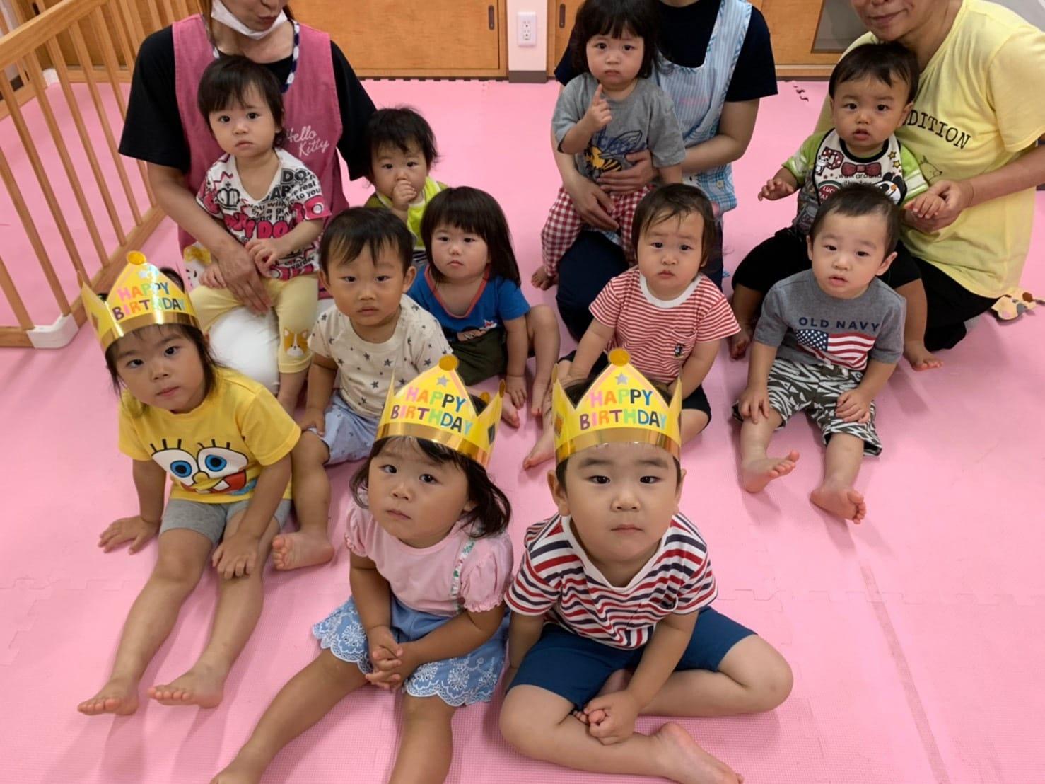 6月🎂お誕生日会🎉&水遊び💦 久我園