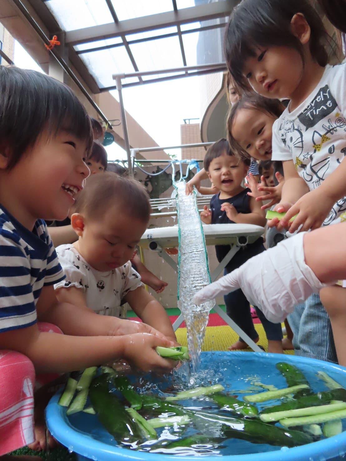 野菜流し🍅🥒&誕生日会🎉 山科園