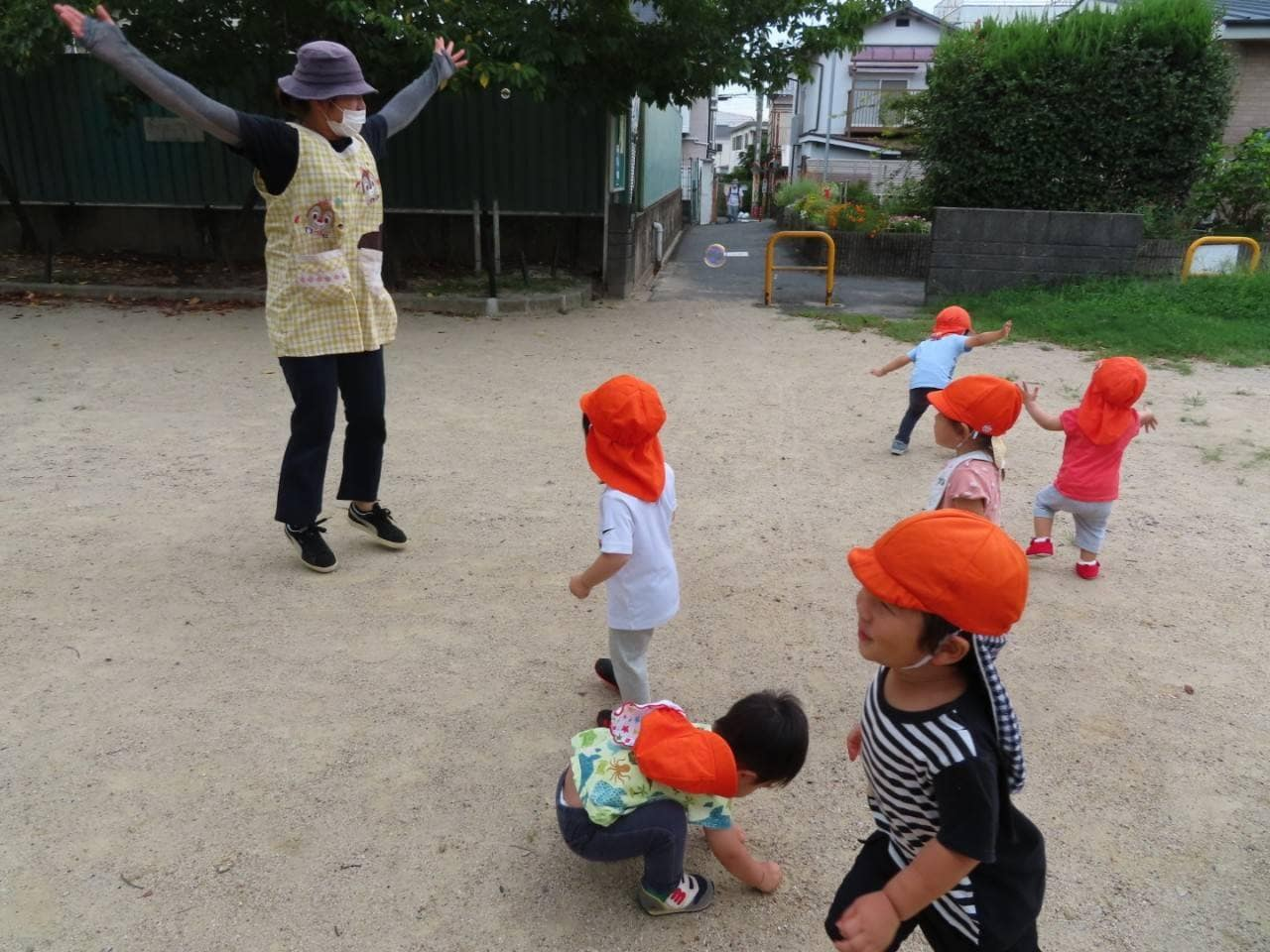 9月🌝戸外での子どもたち🌾🍂長岡京園